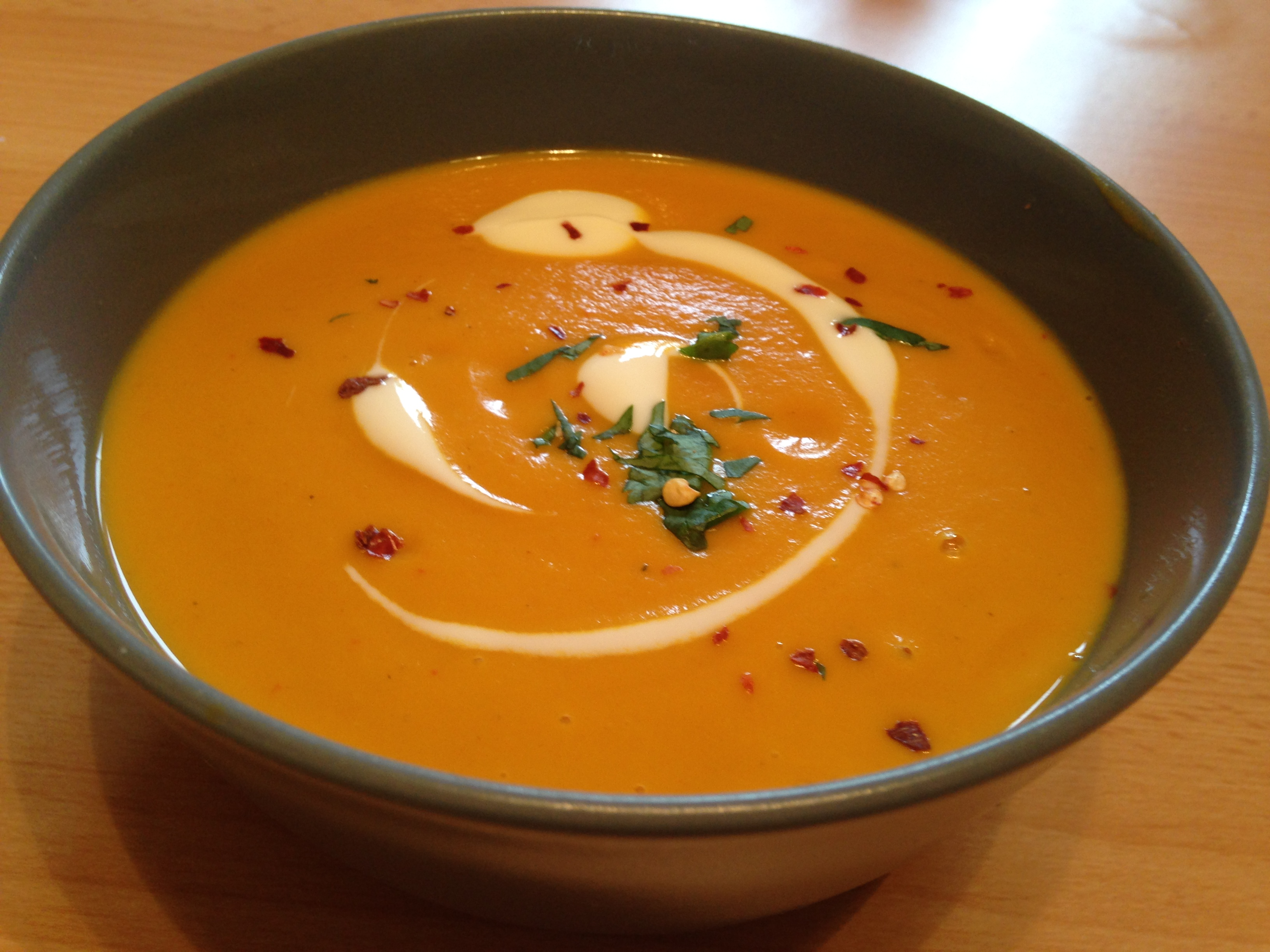 Roasted Crown Prince Squash & Carrot Soup | The Foodie Couple Blog