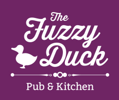 The Fuzzy Duck - Final (on purple) outlines