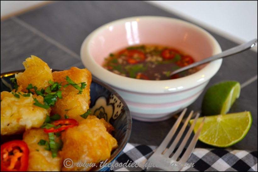 tempura monkfish with nuoc cham