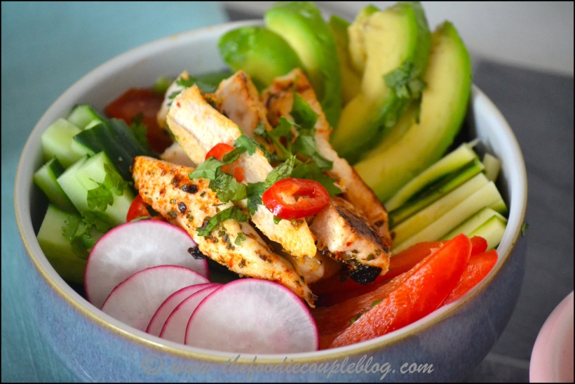 mexican chicken salad bowl