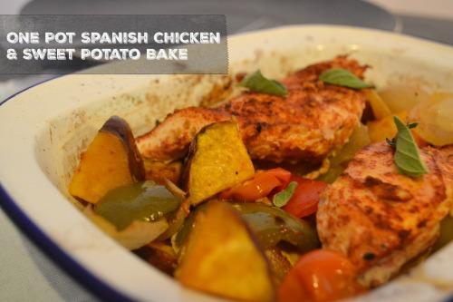 One Pot Spanish CHicken & Sweet Potato Bake