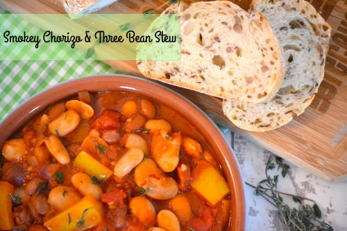 Smokey Chorizo and Three Bean Stew